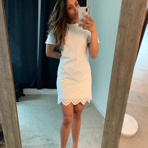 4528ab03 Zara Dresses | Mini Eyelet Babydoll Dress | Poshmark